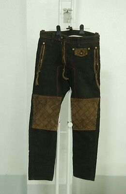 Authentic Dsquared Biker pants RARE DSQUARED2 IT 44 SIZE 31 F/W suede leather