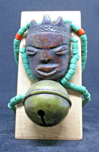 Old PENDE Ikhoko (E), with bell and necklace  - CONGO - late 1800 or early 1900