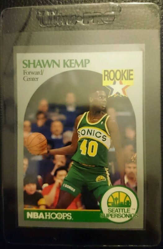 Shawn Kemp 1993 Topps Stadium Starting Lineup Card Seattle Supersonics