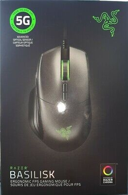 BRAND NEW SEALED Razer Basilisk Gaming Mouse 16000 DPI Optical Sensor $70 MSRP