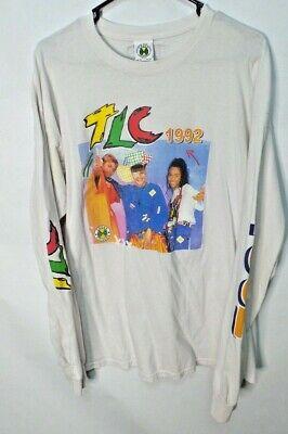 Cross Colours TLC Long Sleeve T Shirt Rap Hip Hop Vintage Look 90s White XL