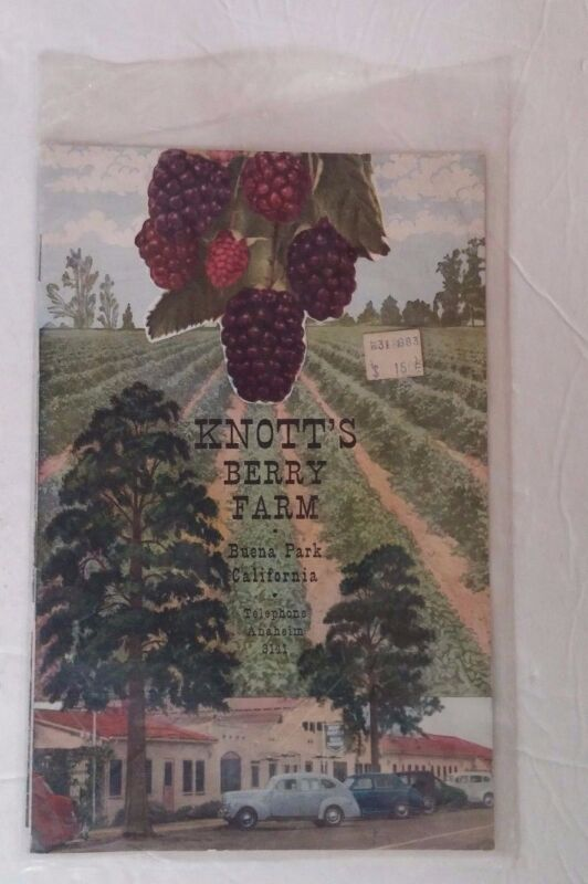 Knott's Berry Farm Buena Park California Vintage Souvenir Book Brochure History