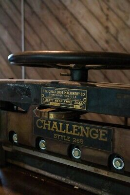 Antique Challenge Guillotine Paper Cutter 26