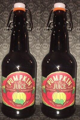 2 Handmade PUMPKIN JUICE BOTTLES For HARRY POTTER PARTY PROP COSPLAY HALLOWEEN](Harry Potter Halloween Pumpkin)