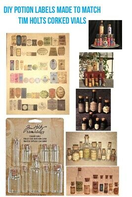 Harry Potter Craft - LABELS ONLY DIY Craft Apothecary Potion Bottles Harry Potter Prop Halloween Deco