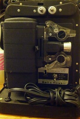 Vintage Bell & Howell Autoload 8mm Movie Projector Model 256 Working No Bulb!