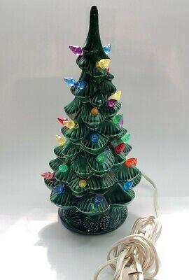 """Vintage Arnel's Ceramic Christmas Tree Light-Up 12"""" Tall Works"""