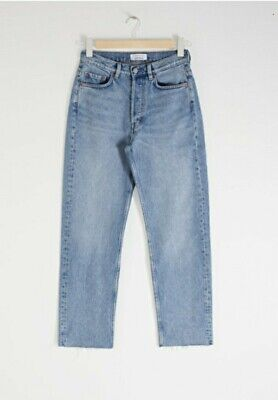 Stockholm Atelier & Other Stories Straight Mid Rise Jeans Blue Euro 30