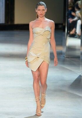 ALEXANDRE VAUTHIER Tan Strapless Bustier Dress 36  2  4