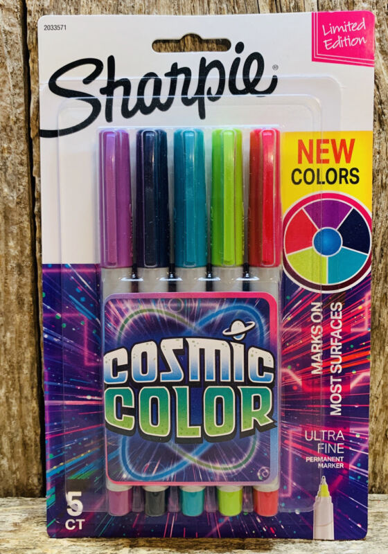 Limited Edition Ultra Fine Tip Cosmic Color Sharpie Markers- 5 Count Pack