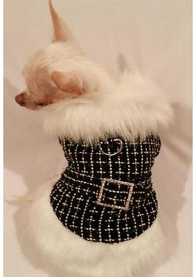 DOG COAT/DOG JACKET/DOG CLOTHES/Luxury Faux Fur Coat/Black (Dog Jacket Coat Fur)