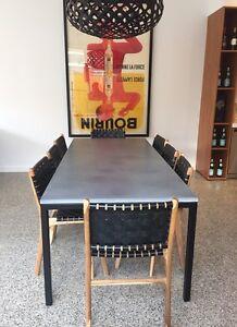 CONCRETE DINING TABLE BESPOKE MODERN BASE Sandringham Bayside Area Preview