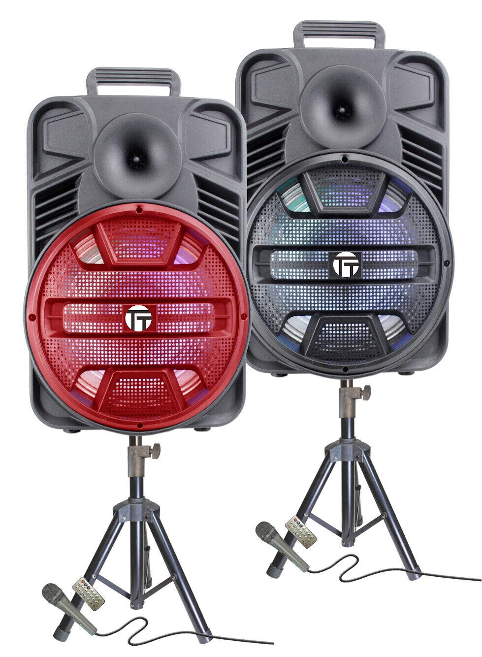 portable 3000 watts peak power 12 speaker