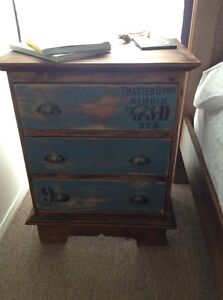 Large Industrial Wooden Nimbin Bedside Tables Tanah Merah Logan Area Preview