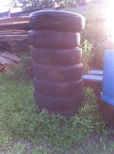 8 tires with rims 4 bolt pattern 155/80 R13