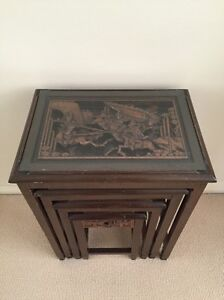 Antique Chinese Side Tables (set of 4) Mosman Mosman Area Preview