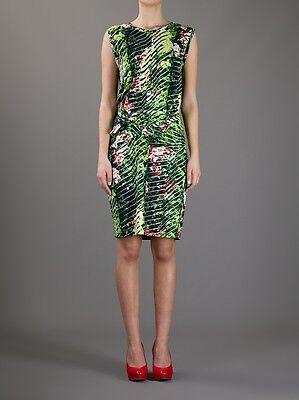 - NWT KENZO Green Sleeveless Tropical Print Dress sz L Jersey Orchid print $435