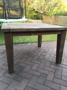 Wooden table Castle Cove Willoughby Area Preview
