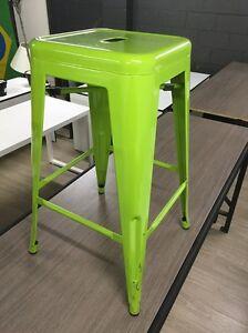 Bar stool green metal 66cm Parramatta Parramatta Area Preview