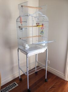 Open top bird cage with stand & loads of extras Brighton East Bayside Area Preview