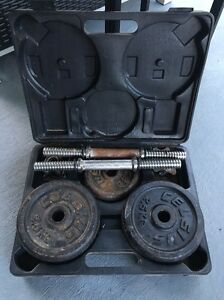 Used weights set for sale. Gillieston Heights Maitland Area Preview