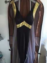 Black Satin Grecian Style Evening Gown Glendalough Stirling Area Preview
