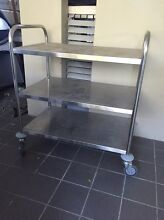 Silver trolley / shelves New Farm Brisbane North East Preview