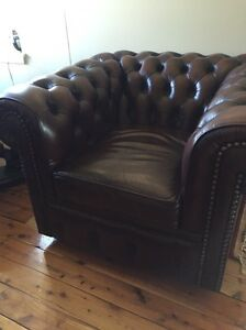 Two Moran chesterfield tub chairs Ainslie North Canberra Preview