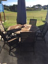 8 seat timber outdoor table set Gympie Gympie Area Preview