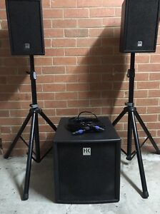 HK Audio L.U.C.A.S. Impact 1200w RMS powered speaker system Mill Park Whittlesea Area Preview