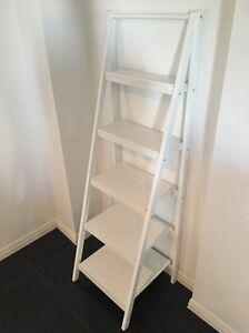 White tiered shelfs, wooden Highland Park Gold Coast City Preview