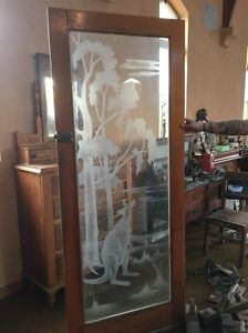 One of a kind etched glass federation door Wangaratta Wangaratta Area Preview
