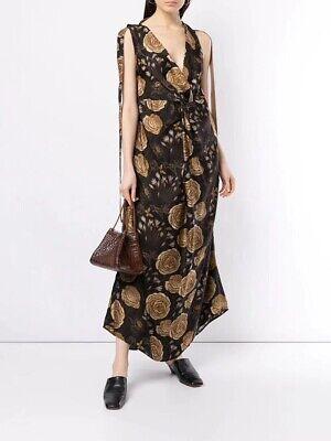 EEUC UMA WANG knot detail floral print dress SZ S $ 1910
