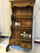 Spice rack- large wooden. 3 tier with drawers. Meadowbank Ryde Area Preview