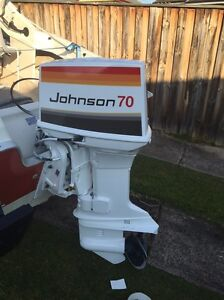 70hp Johnson 2 Stroke 1979 Model with trimmer & throttle control Berala Auburn Area Preview