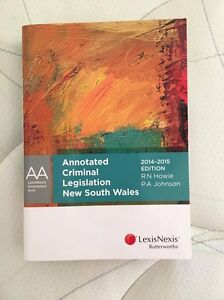 Annotated Criminal Legislation NSW (*****2015 Ed) Merewether Newcastle Area Preview
