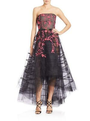 NEW SACHIN & BABI NOIR Clematis Tulle & Organza GOWN $2000 SIZE 4  EMBROIDERED