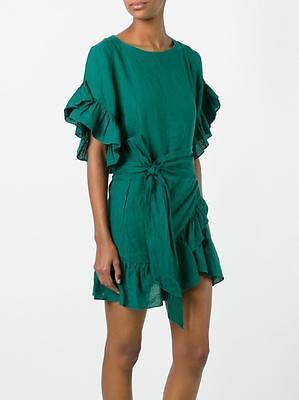 ÉTOILE ISABEL MARANT Delicia Chic Linen Dress Green Size 36 Orig. $362 NWT