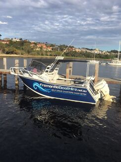 FREMANTLE BOAT HIRE PERTH. Heavy duty plate alloy for hire