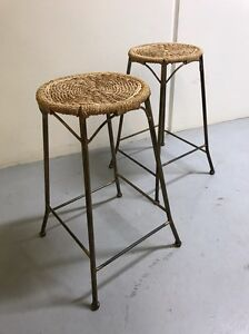 Two rattan  bar stools Frenchs Forest Warringah Area Preview