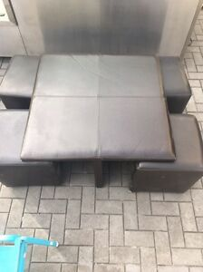 Cushion Table and seats for sale Enfield Burwood Area Preview