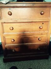 Solid timber chest of drawers Tempe Marrickville Area Preview