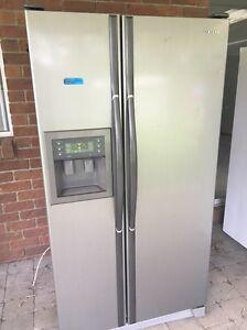Samsung silver double door fridge freezer Labrador Gold Coast City Preview