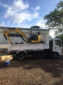 Excavator/Posi track loader PT 30 & Tipper hire