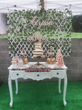 HIRE - White faux ivy lattice back drop Hunters Hill Hunters Hill Area Preview