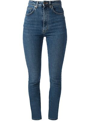 NEW HEDI SLIMANE SAINT LAURENT high waist rise jeans dark blue NWT 29 run small
