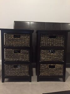 Rattan bedside tables Charlestown Lake Macquarie Area Preview
