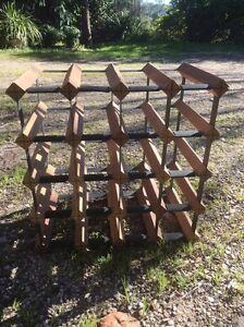 Wooden/metal Wine Rack Grasmere Camden Area Preview