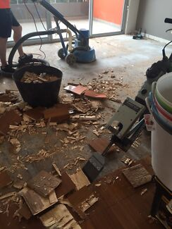 Timber floor removal / strip out