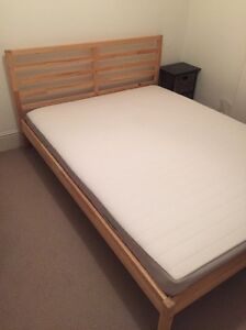 IKEA queen bed frame and mattress Paddington Eastern Suburbs Preview